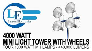 4000 watt non towable mini light tower
