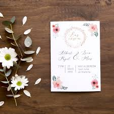 Invitacion Para Boda Floral Argus Disseny Sl