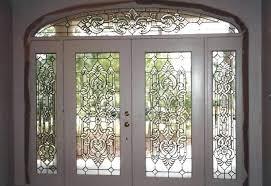 beveled glass exterior doors front