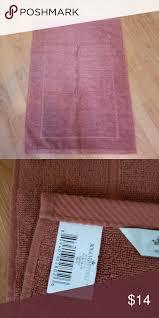bath rug brick rust colored bath mat