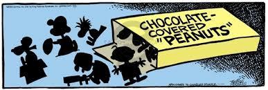 Image result for chocolate covered peanuts jokes cartoons
