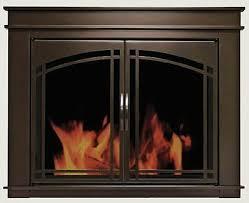 fireplace glass doors residential