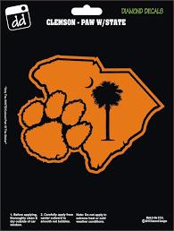 Clemson Tigers Paw University Football College Vinyl Decal Car Window Sticker Diamonddecalz Clemson Tiger Paw Car Decals Vinyl Clemson