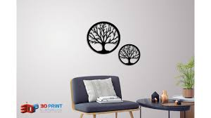Download Stl File Silhouette Art Tree Wall Art 3d Printing Template Cults