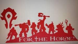 World Of Warcraft For The Horde Decal Sticker World Of Warcraft For The Horde Warcraft