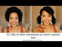 extensions on short 4c natural hair