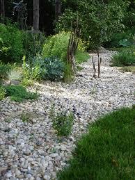 dry creek bed garden rocks free photo