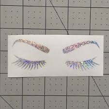 Holographic Eyes Glitter Vinyl Sticker Decal Tumbler Laptop Eyebrows Lashes Ebay