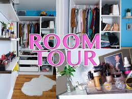 room tour closet and makeup storage