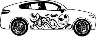 Car Truck Parts Nightmare Before Christmas Town Graphic Vinyl Tribal Decal Car Truck Auto Parts Accessories Moonnepal Com