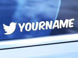 Custom Twitter Handle Vinyl Decal Personalized Twitter Etsy