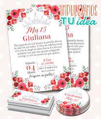 Diseno De Invitacion Cumple De 15 Flores Rojas Para Imprimir