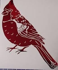 Custom Chrome Red Cardinal Bird Vinyl Car Window Decal Laptop Sticker In 2020 Car Window Decals Laptop Stickers Red Cardinal