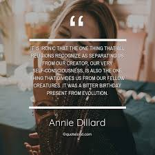 it is ironic that the one thing t annie dillard about birthday