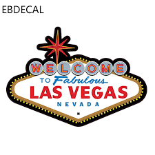 Ebdecal Fabulous Las Vegas Sign Die Cut For Auto Car Bumper Window Wall Decal Sticker Decals Diy Decor Ct6369 Car Stickers Aliexpress
