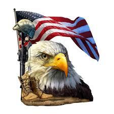 Salute Our Flag Decal Built Usa