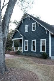 blue gray siding exterior craftsman