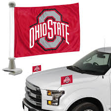 Fanmats Ohio State University 2 Piece Ambassador Flag Set In The Exterior Car Accessories Department At Lowes Com