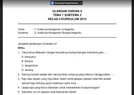 30+ Kunci Jawaban Tema 2 Kelas 4 K13 PNG
