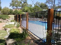 Pool Fencing Design Ideas Get Inspired By Photos Of Pool Fencing From Australian Designers T In 2020 Fence Around Pool Backyard Pool Landscaping Glass Pool Fencing
