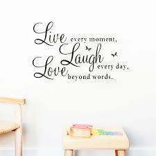 live laugh live love quotes diy wall decals home decorations