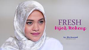 fresh hijab makeup tutorial ola aswandi