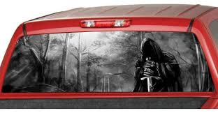 Grim Reaper Sword Rear Window Graphic Decal Tint Perf Sticker Etsy
