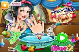 snow white nails make up games play