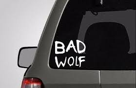 Doctor Who Bad Wolf Car Window Vinyl Decal Sticker Buy2 Get 2 Free 4 Ebay
