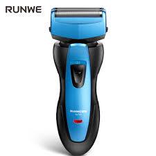 Mô hình mới nhất】 RUNWE Rs 726 Máy cạo râu Đàn ông Đầu máy cạo râu điện có  thể được rửa bằng nước sạc xanh - Hàng điện tử nằm dưới danh
