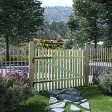 Festnight Picket Garden Gate Wooden Picket Fence Gate Fsc Impregnated Pinewood 100x75cm Amazon Co Uk Kitchen Home