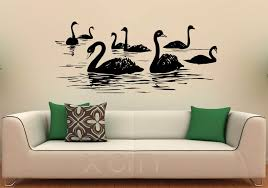 Swan Birds Wall Decal Lake Vinyl Stickers Flying Animal Home Interior Design Art Murals Bedroom Bathroom Decor Buy At The Price Of 18 39 In Aliexpress Com Imall Com