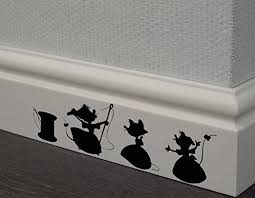 Amazon Com Redin Store Cinderella 3 Mice Decal Disney Home Decor Disney Wall Decal Disney Wall Sticker Kids Wall Decal Kitchen Decal Skirting Board Decals Kitchen Dining