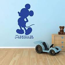 Personalized Mickey Mouse Silhouette Wall Vinyl Decor Wall Decal Customvinyldecor Com