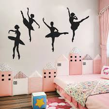 Ballet Girls Dance Room Vinyl Wall Stickers Home Decorations Removable Decals Ebay