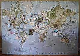 travel map diy wall maps ikea map
