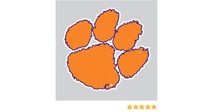 Amazon Com Clemson Tigers Purple Outlined Tiger Paw Logo 6 Vinyl Decal Car Truck Clemson Sticker Everything Else