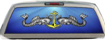 Amazon Com Crabtree Signs Us Navy Dolphins Anchor 17 Inches By 56 Inches Compact Pickup Truck Rear Window Graphics Automotive