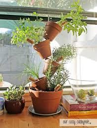 diy lovely stacked herb garden planter
