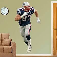 Amazon Com New England Patriots Rob Gronkowski Fathead Vinyl Wall Graphic Home Kitchen