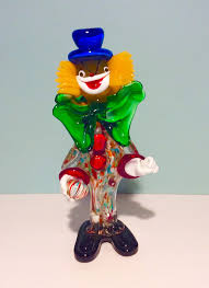 murano glass clown italy 1950s vintage