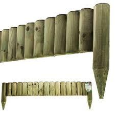 1m Picket Fence Border Panel Edge Log Roll Garden Lawn Edging New End User