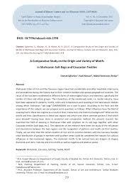 pdf a parative study on the origin
