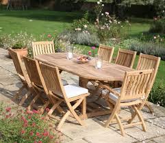 8 seater oval extending garden table