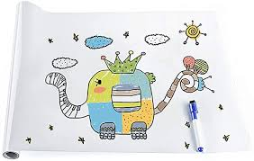 Amazon Com Rabbitgoo Whiteboard Sticker Large Wall Whiteboard With 1 Whiteboard Pen Self Adhesive Dry Erase Wall Decal Peel Stick Vinyl Whiteboard Contact Paper For Home Office Classroom 17 7 X 78 7 Inches