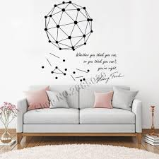 Science Art Stickers Wall Mural Henry Ford Motivational Quote Plus A Geometric Vinyl Wall Decal Creative Scientific Decor Lc696 Wall Stickers Aliexpress