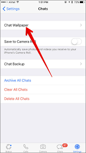 whatsapp chat wallpaper on your iphone
