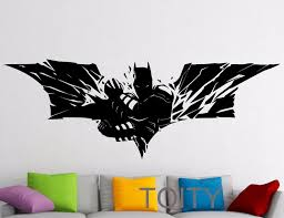 Superhero Wall Sticker Batman Movie Poster Dark Knight Vinyl Decal Home Nursery Children Kid Room Stencil Mural Decor In This Home Wall Decal Inexpensive Wall Decals From Totwo2 26 Dhgate Com