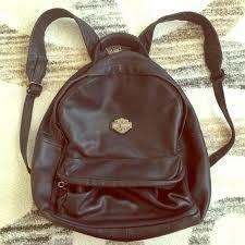 harleydavidson vintage black leather