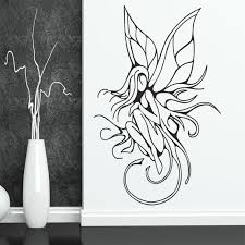 Fairy With Wings Wall Decal Fantasy Wall Decal Fairy Etsy